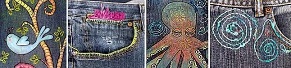 jeans stripe
